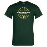 Dark Green T Shirt-Basketball Court Design