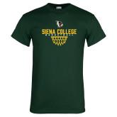 Dark Green T Shirt-Basketball Sharp Net