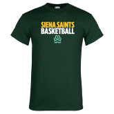 Dark Green T Shirt-Siena Saints Basketball