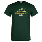 Dark Green T Shirt-Cross Country Shoe Design