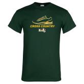 Dark Green T Shirt-Cross Country Shoe Design