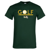 Dark Green T Shirt-Golf Ball Design