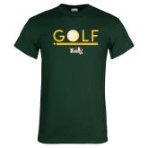 Dark Green T Shirt-Golf Ball Design