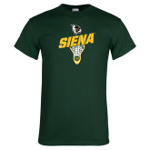 Dark Green T Shirt-Lacrosse Stick Design