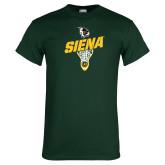 Dark Green T Shirt-Lacrosse Stick Design