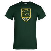Dark Green T Shirt-Soccer Shield Design