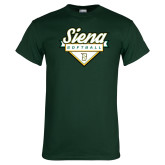 Dark Green T Shirt-Softball Plate Design