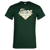 Dark Green T Shirt-Softball Plate Design
