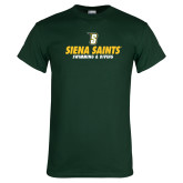Dark Green T Shirt-Swimming and Diving Design