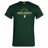 Dark Green T Shirt-Volleyball Ball Design