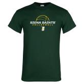 Dark Green T Shirt-Volleyball Ball Design
