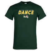 Dark Green T Shirt-Dance Design