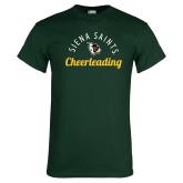 Dark Green T Shirt-Cheerleading Script Design