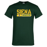 Dark Green T Shirt-Siena Saints Bar Design