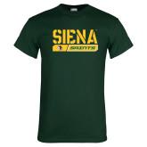 Dark Green T Shirt-Siena Saints Bar Design