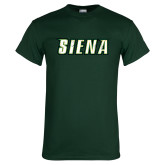 Dark Green T Shirt-Siena Distressed