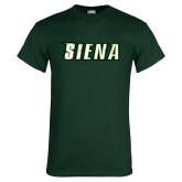 Dark Green T Shirt-Siena Distressed