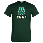 Dark Green T Shirt-Siena w/Paw