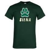 Dark Green T Shirt-Siena w/Paw