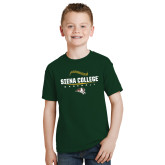 Youth Dark Green T Shirt-Baseball Seams Design