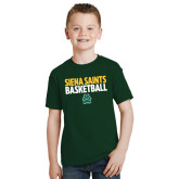 Youth Dark Green T Shirt-Siena Saints Basketball