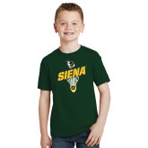 Youth Dark Green T Shirt-Lacrosse Stick Design