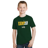 Youth Dark Green T Shirt-Tennis Abstract Net