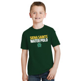 Youth Dark Green T Shirt-Water Polo Stacked