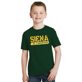 Youth Dark Green T Shirt-Siena Saints Bar Design