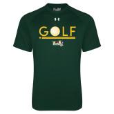 Under Armour Dark Green Tech Tee-Golf Ball Design