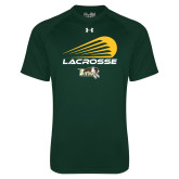 Under Armour Dark Green Tech Tee-Modern Lacrosse Design