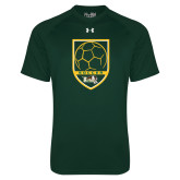 Under Armour Dark Green Tech Tee-Soccer Shield Design