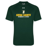 Under Armour Dark Green Tech Tee-Swimming and Diving Design