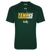 Under Armour Dark Green Tech Tee-Tennis Abstract Net