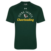 Under Armour Dark Green Tech Tee-Cheerleading Script Design