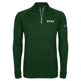 Under Armour Dark Green Tech 1/4 Zip Performance Shirt-Siena