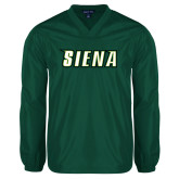 V Neck Dark Green Raglan Windshirt-Siena