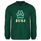 V Neck Dark Green Raglan Windshirt-Siena w/Paw