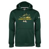 Under Armour Dark Green Performance Sweats Team Hoodie-Cross Country Shoe Design