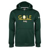 Under Armour Dark Green Performance Sweats Team Hoodie-Golf Ball Design