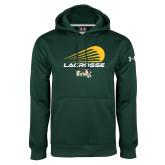 Under Armour Dark Green Performance Sweats Team Hoodie-Modern Lacrosse Design