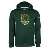 Under Armour Dark Green Performance Sweats Team Hoodie-Soccer Shield Design