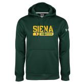 Under Armour Dark Green Performance Sweats Team Hoodie-Siena Saints Bar Design