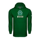 Under Armour Dark Green Performance Sweats Team Hoodie-Siena w/Paw