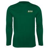Performance Dark Green Longsleeve Shirt-Saints Alive!