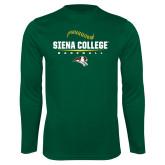 Performance Dark Green Longsleeve Shirt-Baseball Seams Design