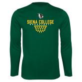 Performance Dark Green Longsleeve Shirt-Basketball Sharp Net