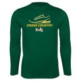 Performance Dark Green Longsleeve Shirt-Cross Country Shoe Design