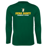 Performance Dark Green Longsleeve Shirt-Swimming and Diving Design