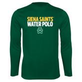 Performance Dark Green Longsleeve Shirt-Water Polo Stacked